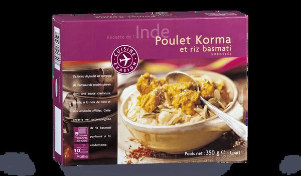 Poulet Korma et riz basmati