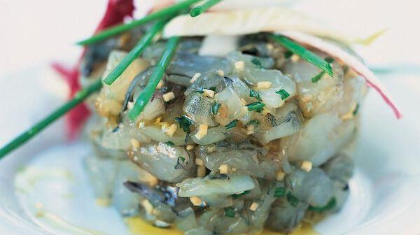 Tartare de crevettes au gingembre