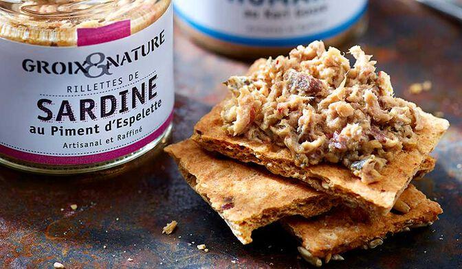 Groix et Nature Rillettes de Sardine au Piment d'Espelette