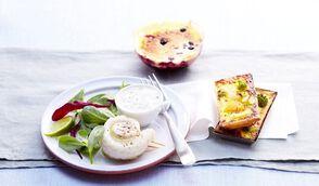 Roulés de colin au citron vert et salade de pousses d'épinard