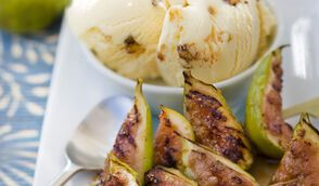 Chaud-froid de figues grillées au miel