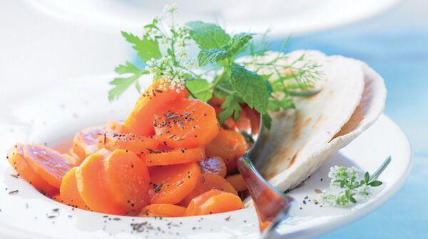 Salade de carottes à l'orange et au pavot