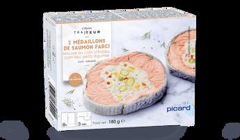 2 médaillons de saumon farci