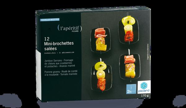 12 mini brochettes salées