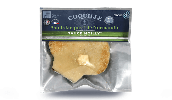 Coquille St-Jacques (Pecten, France) sauce Noilly