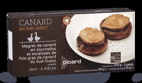 Magret canard, escalopes foie gras canard S.Ouest