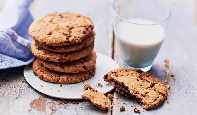 Cookies noisette-caramel coeur fondant chocolat noir
