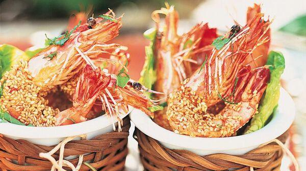 Crevettes croustillantes au sésame