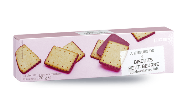 Biscuits petit-beurre au chocolat au lait