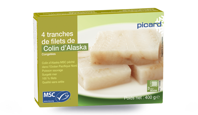 4 tranches de filet de colin d'Alaska MSC