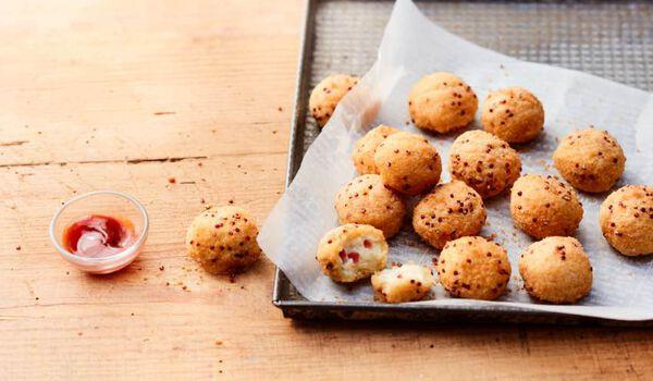 Cream cheese bacon balls, bouchées apéritives