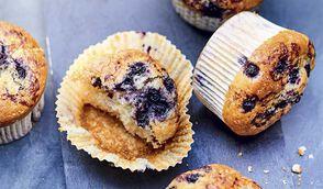 Muffins aux myrtilles sauvages bio