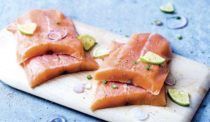 4 portions de filets de saumon atlantique