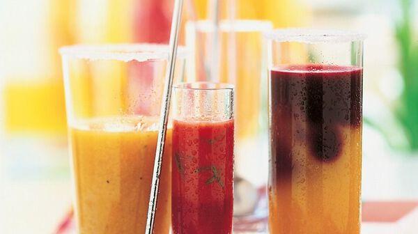 Cocktail framboise, orange et soupçon de menthe