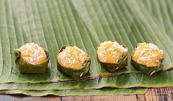 4 khanom tan, petits moelleux au lait de coco