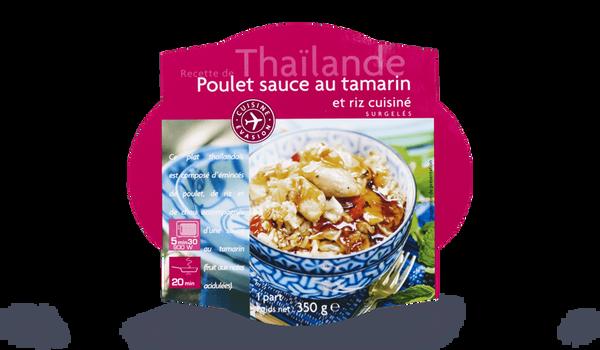 Poulet sauce au tamarin et riz cuisiné