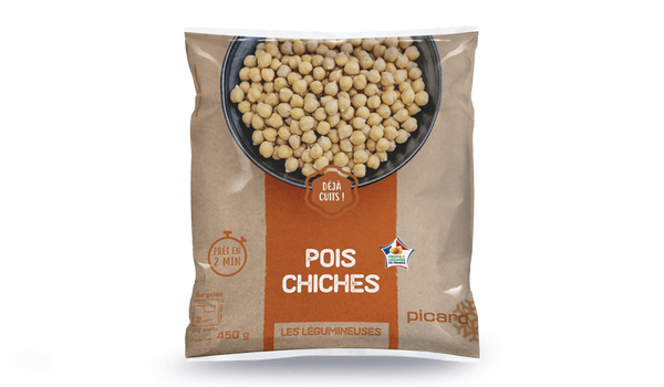 Pois chiches, cuits, France