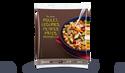 Poulet, légumes, petites pâtes, mozzarella