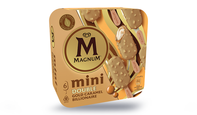 6 Mini Magnum Double Gold Caramel Billionaire