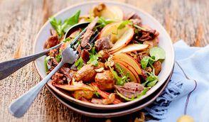 Salade d'automne au confit de canard