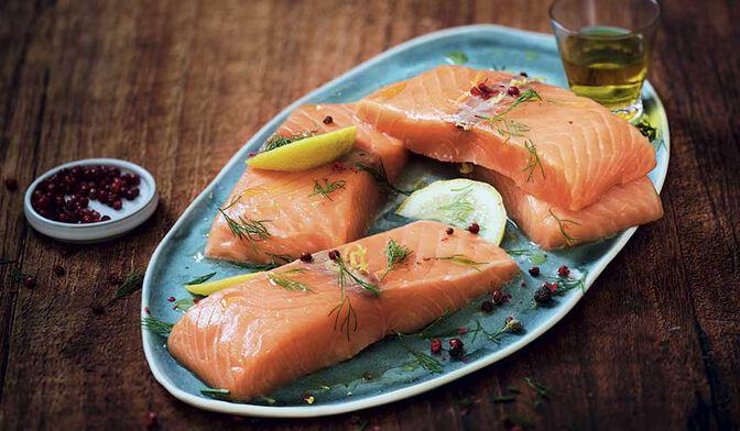 4 pavés de saumon atlantique