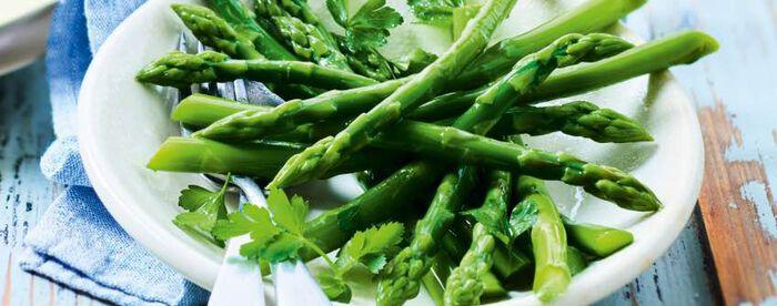 Asperges vertes sans résidu de pesticides