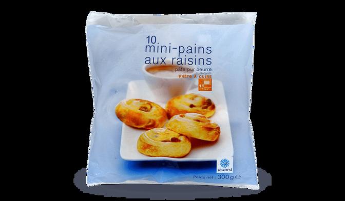 10 mini-pains aux raisins
