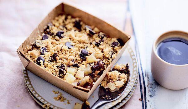 Crumble poire-chocolat