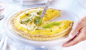 Tarte citron-verveine