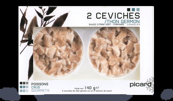 2 ceviches de thon germon