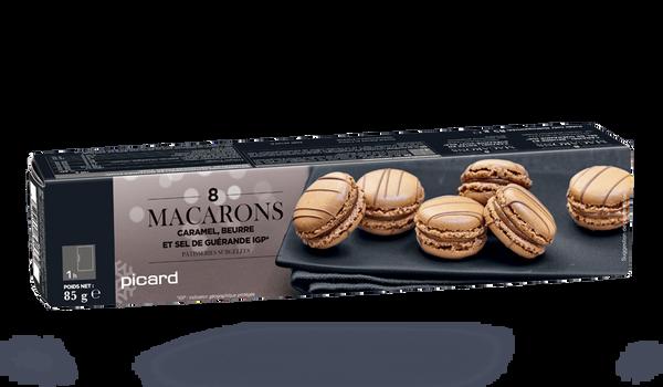 8 macarons caramel au beurre et sel guérande IGP
