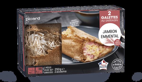 2 galettes jambon-emmental