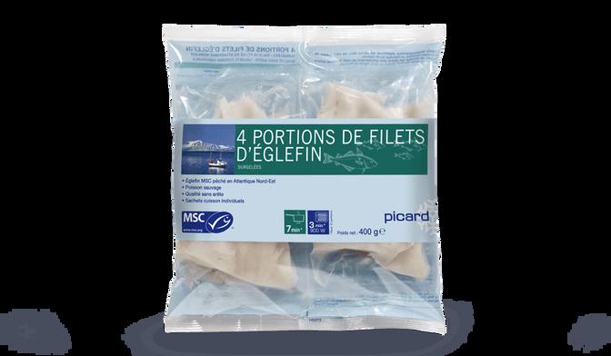 4 portions de filets d'églefin MSC