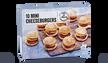 10 mini cheeseburgers