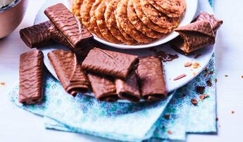 Crêpes dentelle enrobées de chocolat au lait