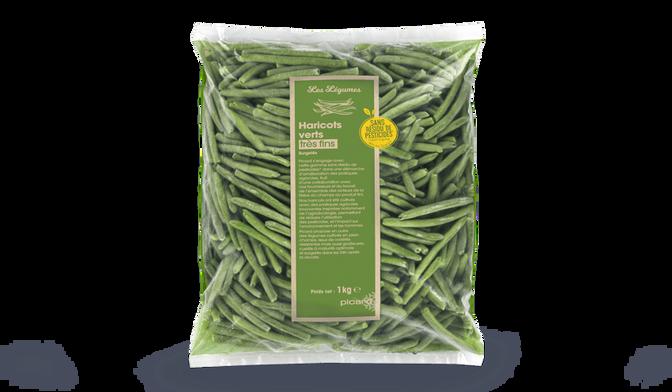 Haricots verts très fins sans résidu de pesticides