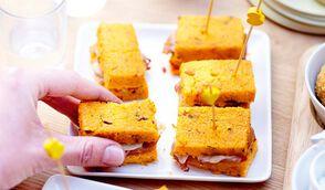 Mini-croques de polenta