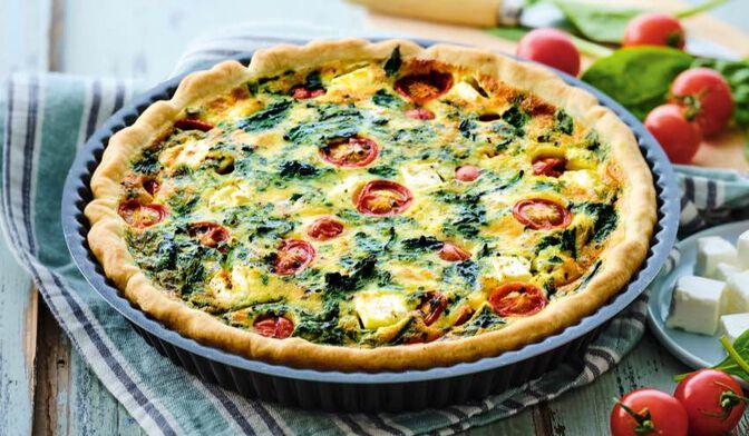 Préparation pour tarte aux légumes et fromage