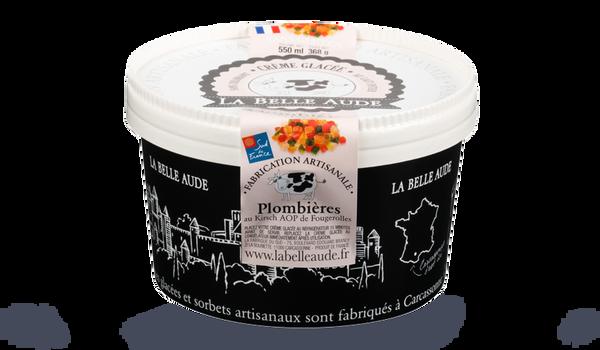 Crème glacée plombières, La Belle Aude