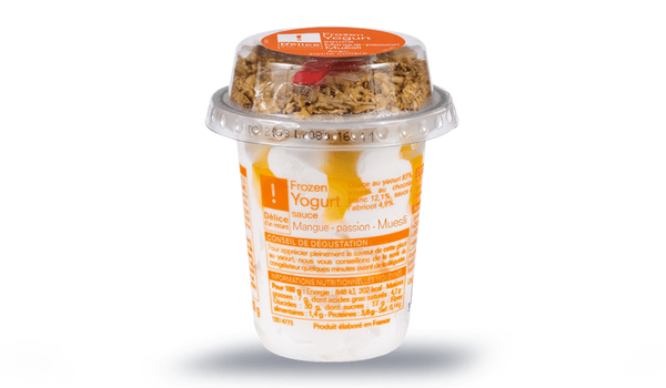 Frozen yogurt sauce mangue-passion - muesli