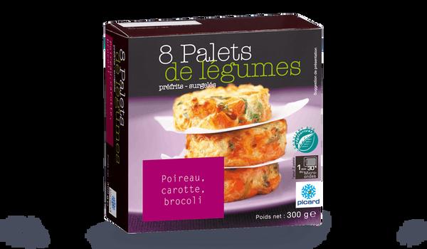 8 palets de légumes poireau, carotte, brocoli