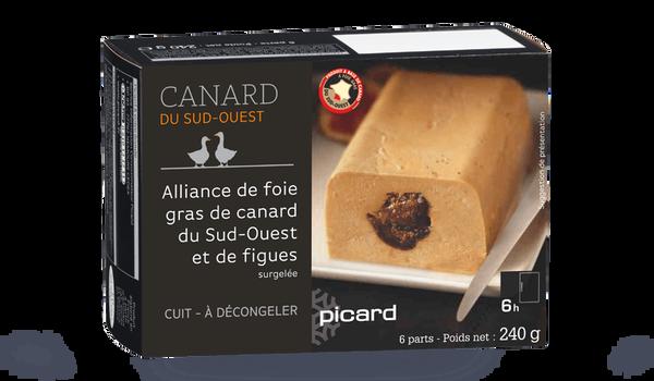 Alliance de foie gras de canard du Sud-O figues
