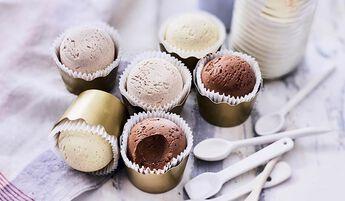 6 timbales de crèmes glacées