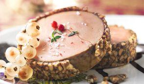 Foie gras en nougatine