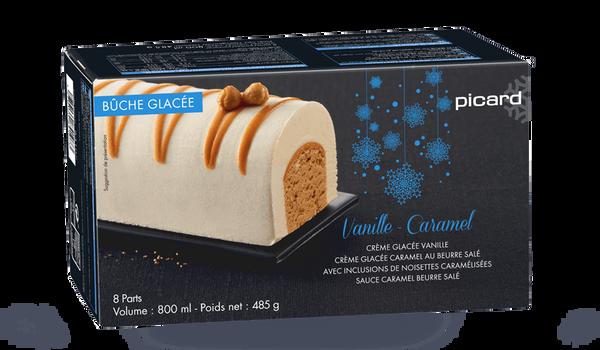 Bûche glacée vanille-caramel, 8 parts