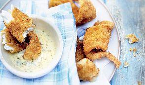 Goujonnettes de sole sauce beurre blanc, gingembre, coriandre