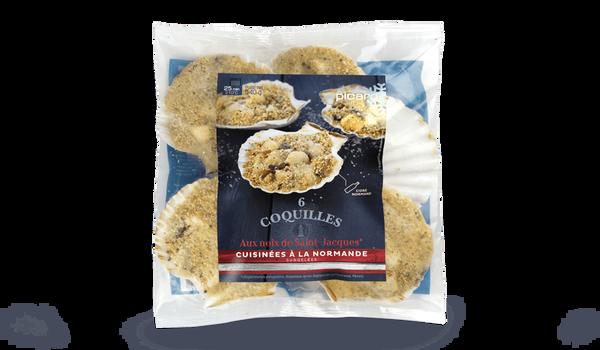 6 coquilles aux noix de St-Jacques, à la normande