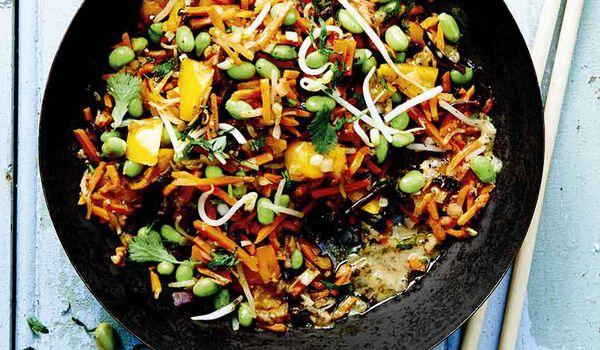 Wok de légumes, cuisiné