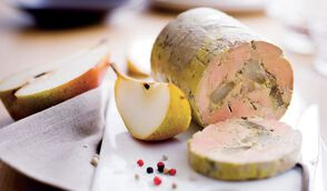 Foie gras poire verveine et menthe