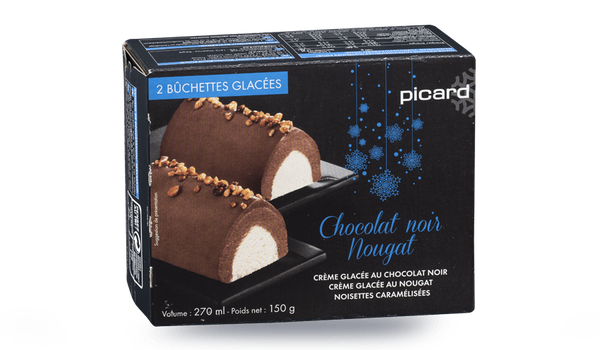2 bûchettes glacées chocolat-nougat